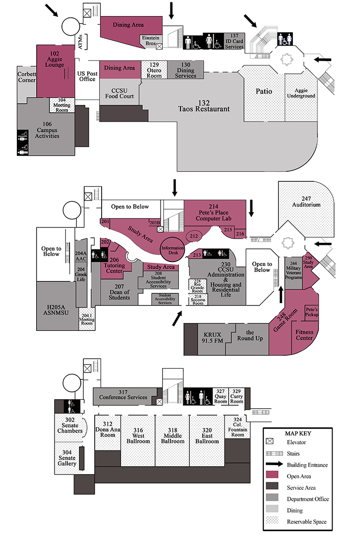 Building Map | NMSU Corbett Center Student Union | New Mexico State on